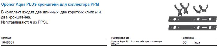 Uponor Aqua PLUS кронштейн для коллектора PPM