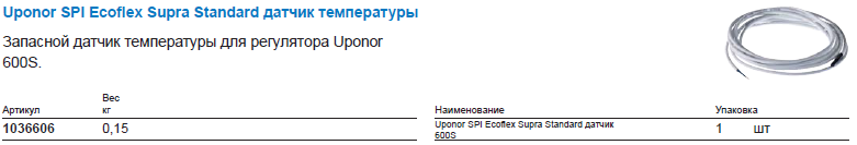 Supra Standard датчик